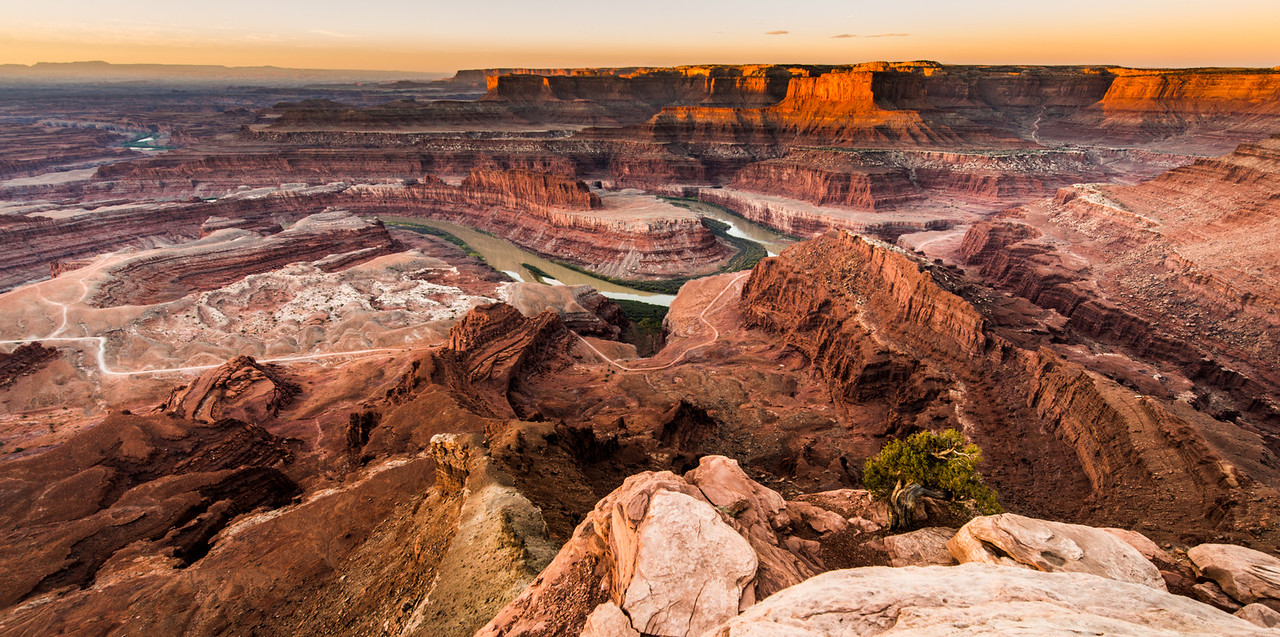 Daybreak, The Colorado River And Canyonlands National Park, Dead Horse Point State Park, Utah, USA