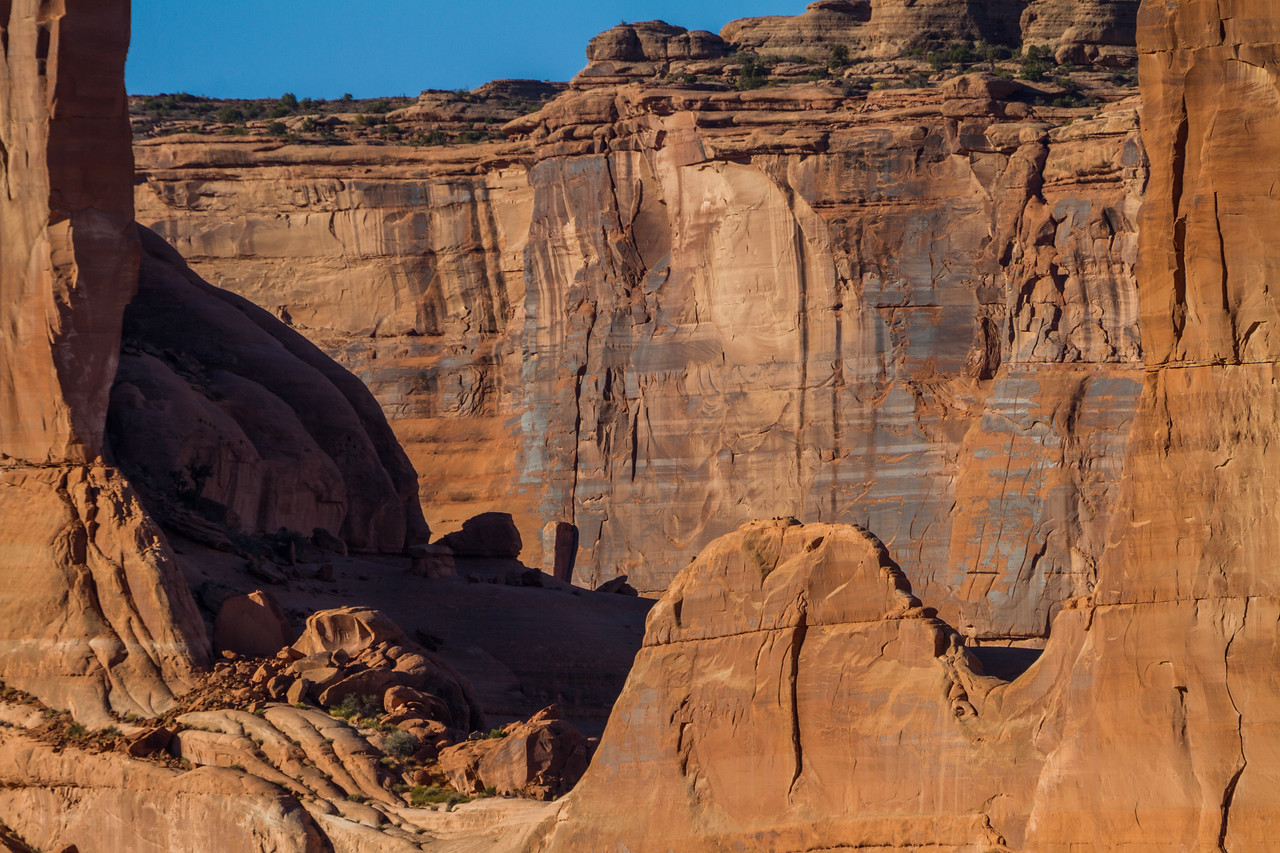 View of rock formation in USA - Utah