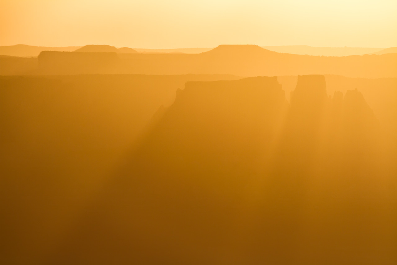 Distant Buttes, Canyonlands National Park, Utah, USA