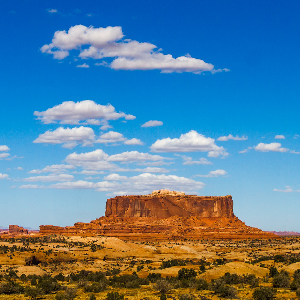 Clouds Over Monitor Butte in Southern Utah