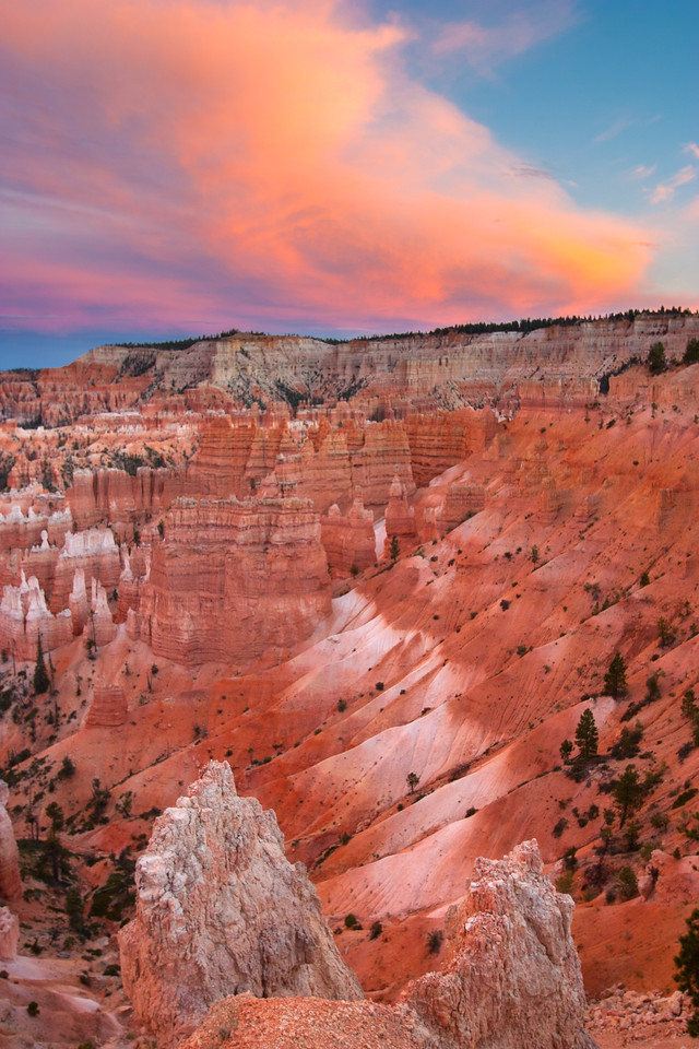Bryce Canyon After Sunset, Bryce Canyon National Park, Utah, USA