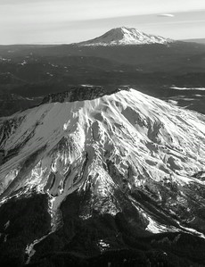 One of the benefits of flying out of Seattle in almost any direction is the chance to spy the beautiful mountains in the Cascade or Olympic ranges. Here Mt. St. Helens and Mt. Adams show off ...