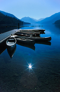 Crescent Lake Morning, Olympic Peninsula, Washington, USA
