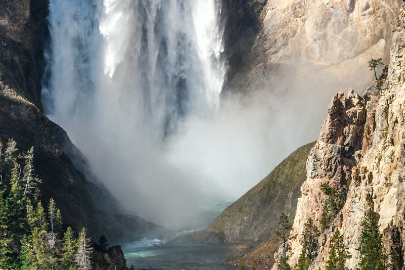 The Base Of Lower Yellowstone Falls, Wyoming, USA
