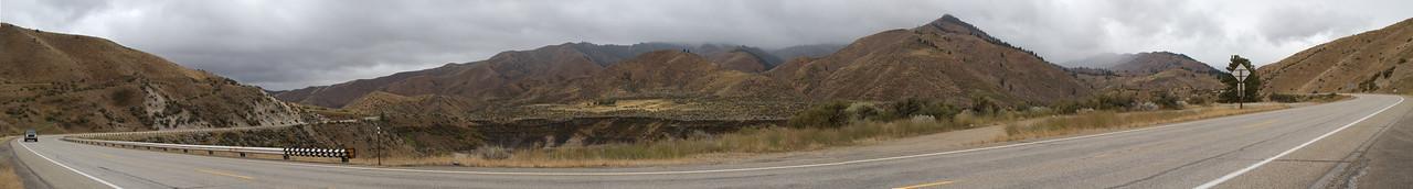 Panorama along I21 near Boise Idaho