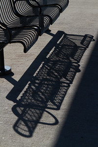 Bench at the Beacon train station