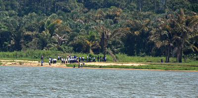 The shoreline of Lake Victoria near Entebbe, Uganda.