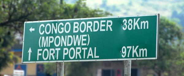 Road sign, Uganda.