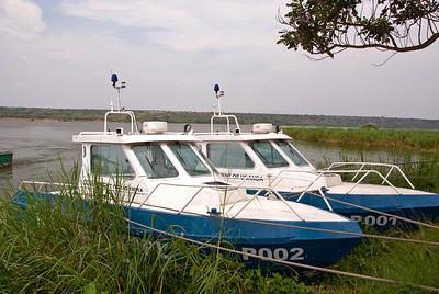 Government patrol boats, Kazinga Channel, Uganda.