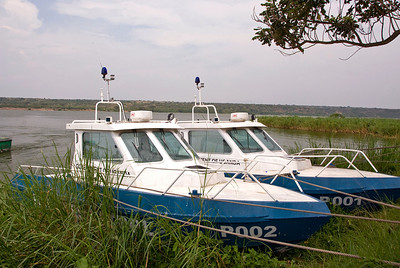 Government patrol boats, Kazinga Channel, Uganda.