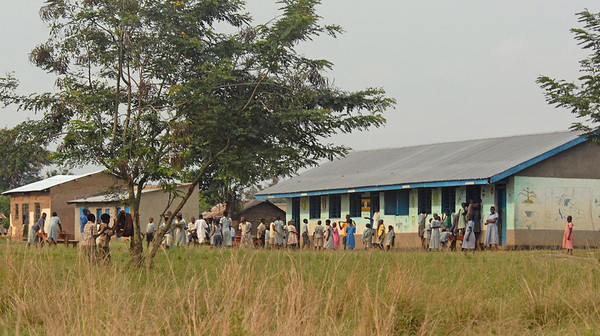 Primary school, rural Uganda.