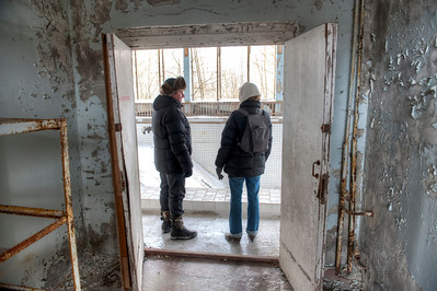 At Swimming Pool Azure, inside the 30-kilometer Chernobyl Exclusion Zone, Pripyat, Ukraine.