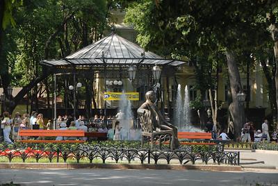 Bandstand at city park, Odessa, Ukraine.