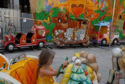 Amusement park, Odessa, Ukraine.
