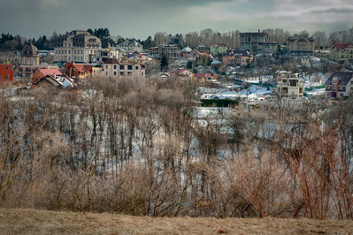 Houses near Kyiv, Ukraine - HDR.