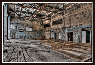 Gymnasium at the Palace of Culture, Pripyat, Ukraine.