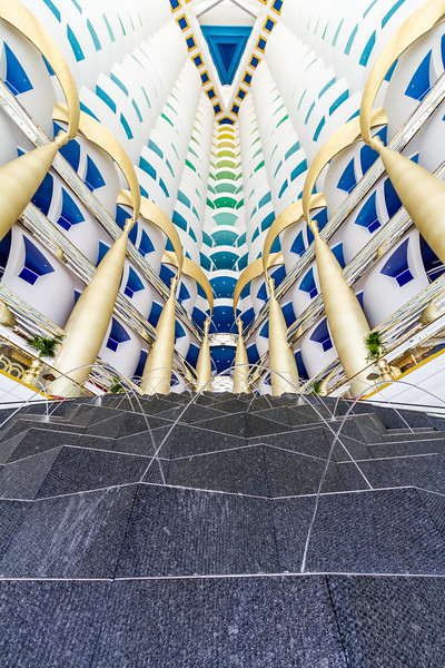Fountain inside Burj Al Arab - UAE - United Arab Emirates - Dubai