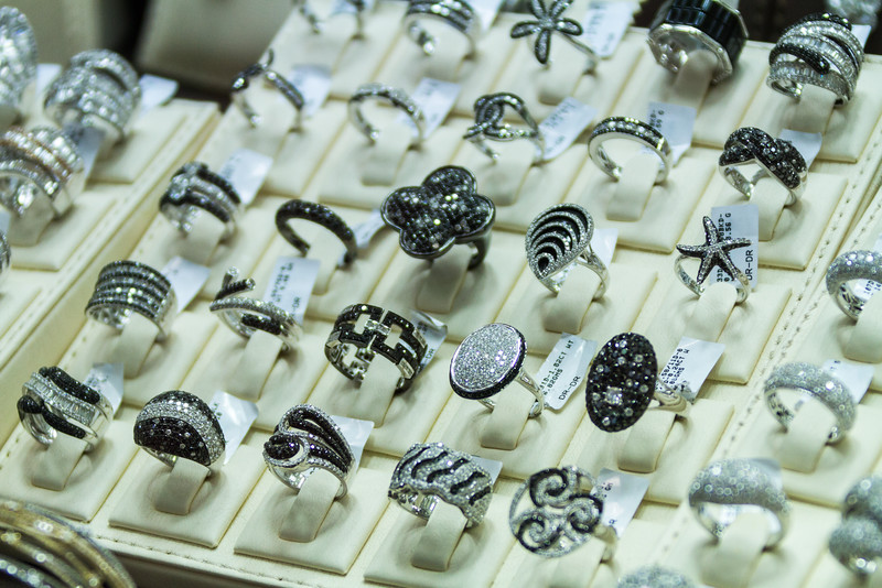Close-up of rings for sale - United Arab Emirates - Dubai