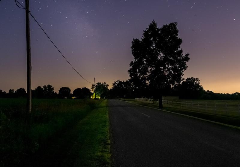 Night photo in Belmont Michigan.
