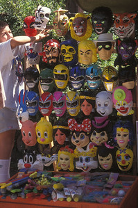 Masks on the street in Montevideo, Uruguay.
