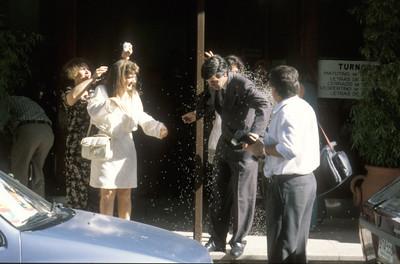 Wedding party, Montevideo, Uruguay.