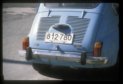 License plate, Montevideo, Uruguay.