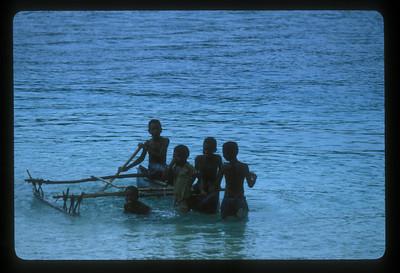 Boys off Espiritu Santo Island, Vanuatu.