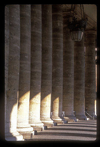 Columns at the Vatican palace, Vatican City.