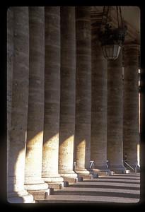 Columns at the Vatican palace, Vatican City.