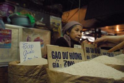 Rice at the market, Hanoi, Vietnam.