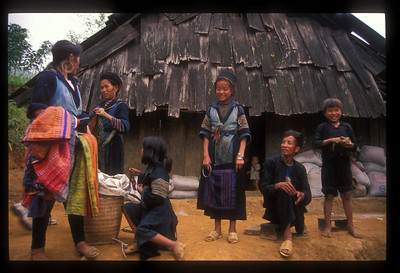 Hill tribe family in Tavan village, Vietnam.