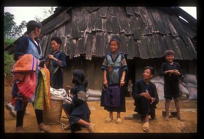 Hill tribe family in Tavan village, Vietnam.