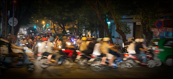 The most recent census of Ho Ch Minh city was performed in 2009, making it difficult to know the current population. Best guess, about eight and a half million people, most of whom, at any given time, are on the road.