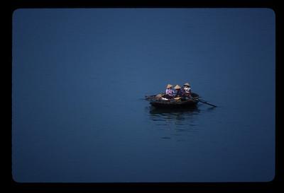 Small boats in Haiphong harbor, Vietnam.