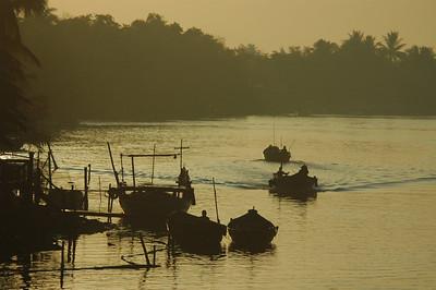Boats at dawn, Hoi An, Vietnam.