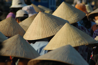 Traditional Non La hats, Hoi An, Vietnam.