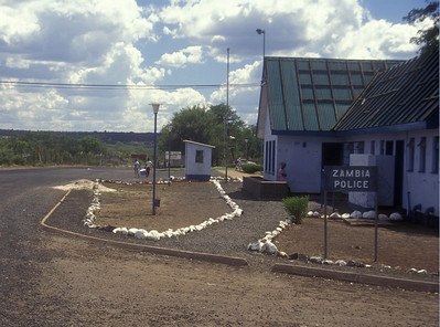 Border post on the Zambia/Zimbabwe border.
