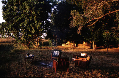 Bush camp, South Luangwa Park, Zambia.