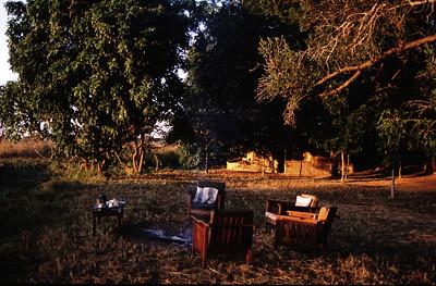 Bush camp, South Luangwa Park, Zambia.