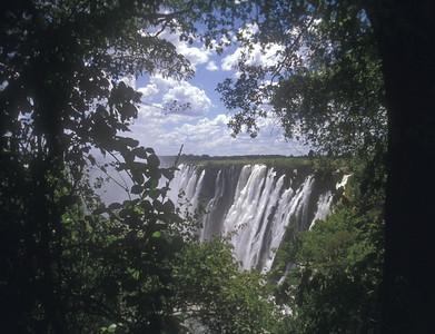 Victoria Falls, Zambesi River between Zambia and Zimbabwe.