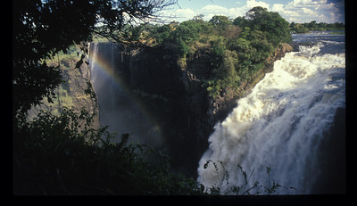 """Musi-O-Tunya, or """"the smoke that roars,"""" otherwise known as Victoria Falls, from Zambia."""