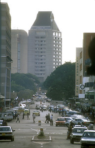 Downtown Harare, Zimbabwe.