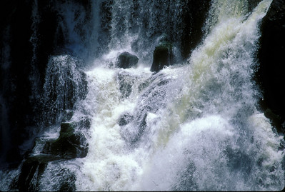 "Detail of Musi-O-Tunya, or ""the smoke that roars,"" also known as Victoria Falls, from the Zimbabwean shore."