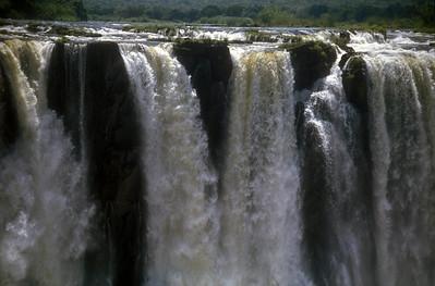 Victoria Falls between Zimbabwe and Zambia.