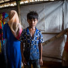 Mohammed is upset he has had to move home four times since fleeing Myanmar