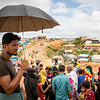 Refugee Nurul looks on as new families arrive at Kutupalong camp