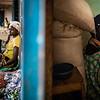 Displaced women sitting in the school of Ouahigouya