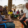 Jan Egeland discussing with displaced people in Barsalogho camp - Burkina Faso