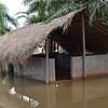 This gazebo usually reserved for public discussions is surrounded by floodwater.<br /> <br /> Photo: Chanel Igara/NRC