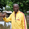 Dieudonné Kamayenge is a retired professor who has lived in Cité Kolongo since 1993. He is appalled to see his neighborhood in this state. <br /> <br /> 'Our needs are enormous,' he says as he lists the different ways that he and his community will need assistance. He stresses the need for medicine to treat malaria as he worries that this will be the next phase of the crisis. <br /> <br /> Photo: Itunu Kuku/NRC